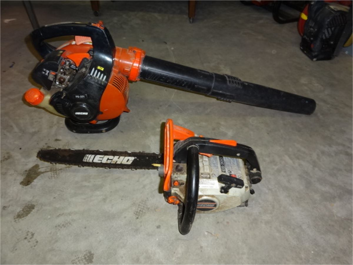 blower echo pb 251 gas chainsaw echo cs 300 gas 172 for auction municibid. Black Bedroom Furniture Sets. Home Design Ideas