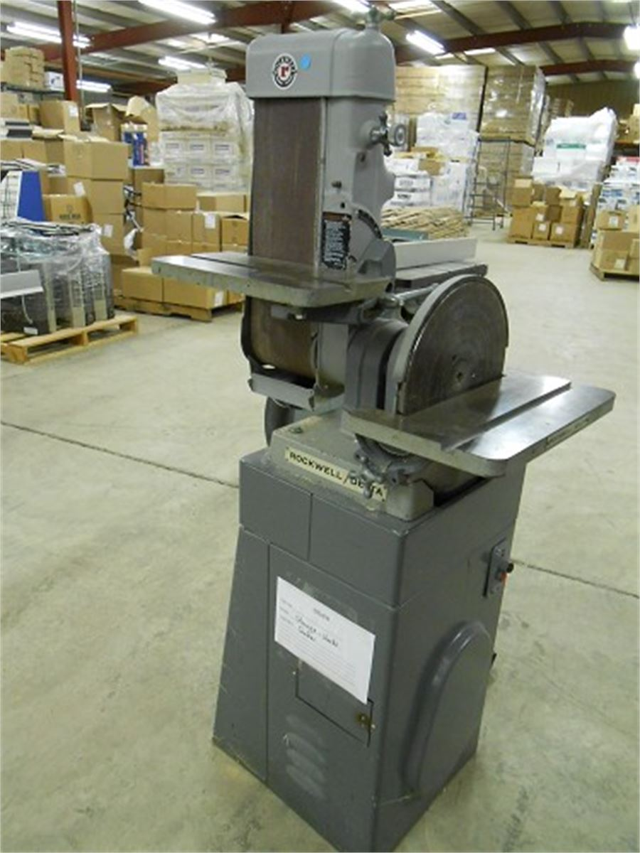 Delta Rockwell Belt/Disc Sander Combo Online Government Auctions of