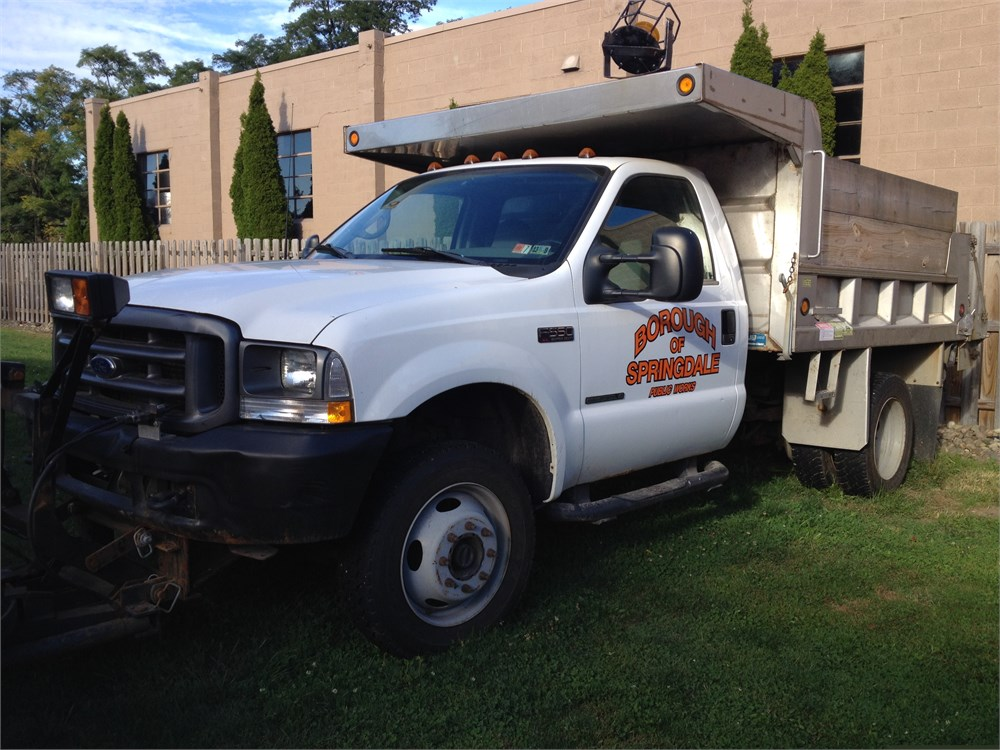 F550 For Sale >> 2002 Ford F550 4X4 1 Ton Dump Truck for Auction   Municibid