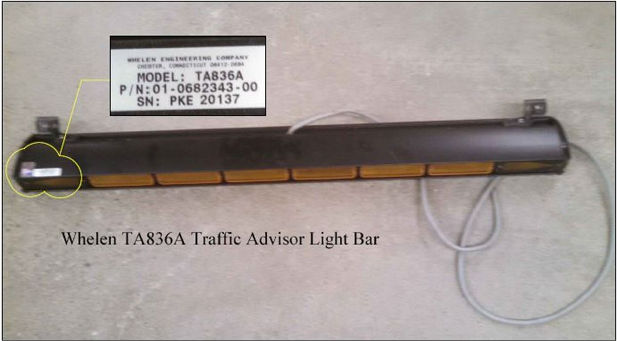 Whelen ta836a traffic advisor light bar for auction municibid auction details mozeypictures Image collections