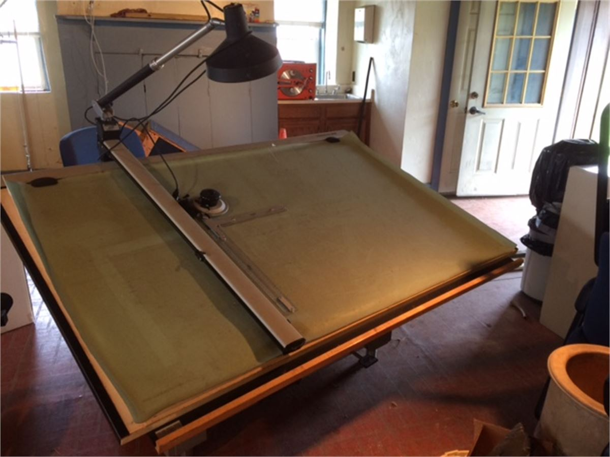 One 1 Mayline Desk O Matic Ii Drafting Table For