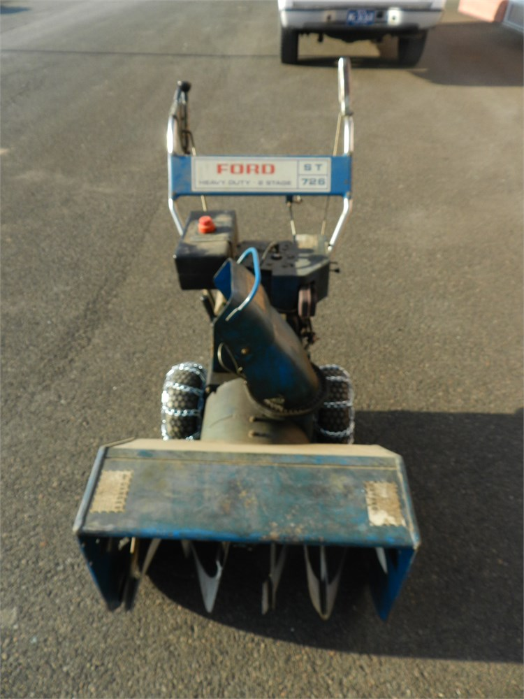 Ford Snow Thrower Parts : Ford st stage snow blower online government auctions