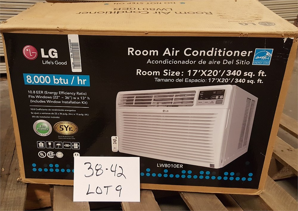 lot 38 42 5 lg 8 000 btu window air conditioner used online government auctions of. Black Bedroom Furniture Sets. Home Design Ideas