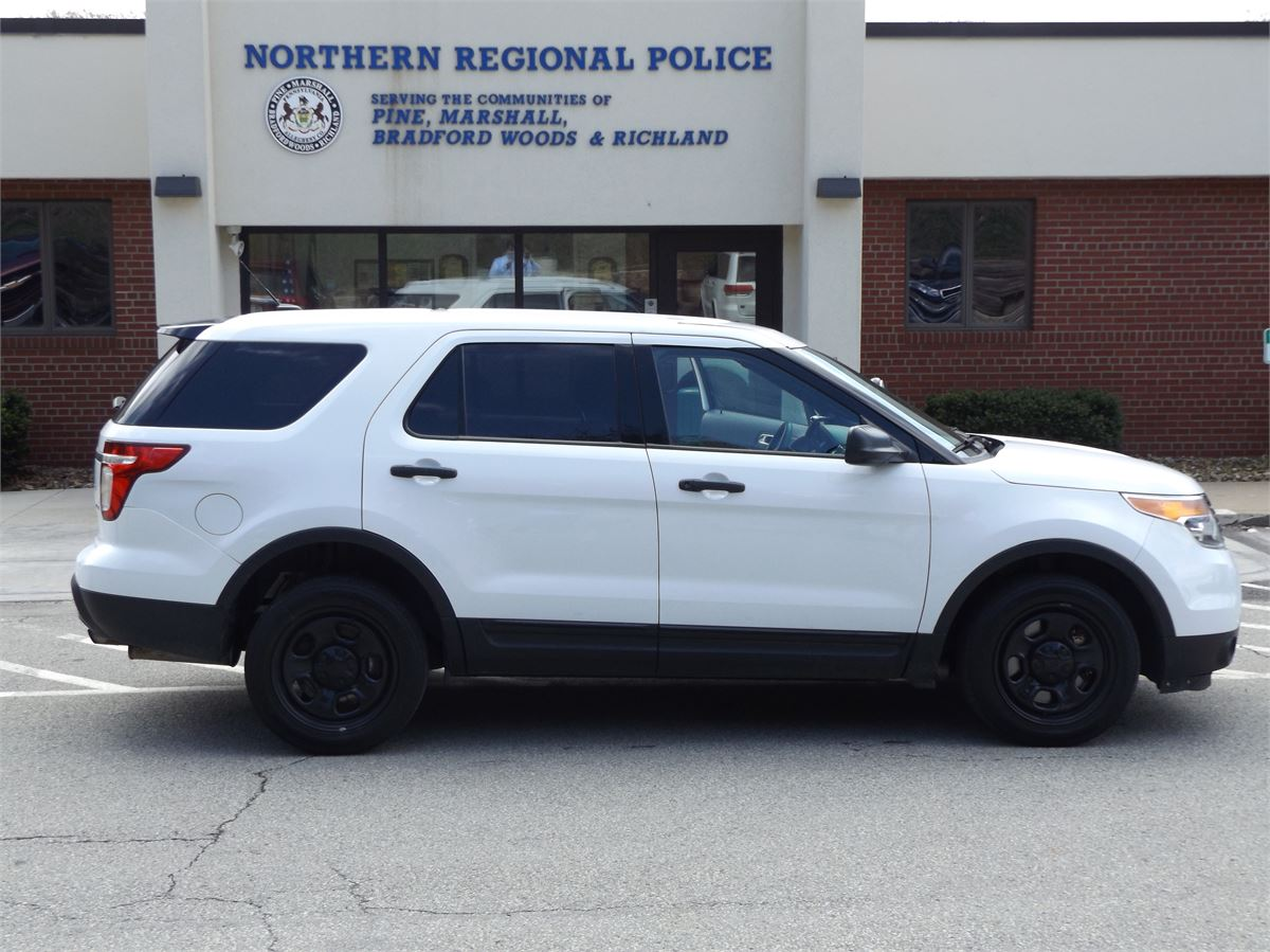 2013 Ford Explorer Police Suv White For Auction Municibid