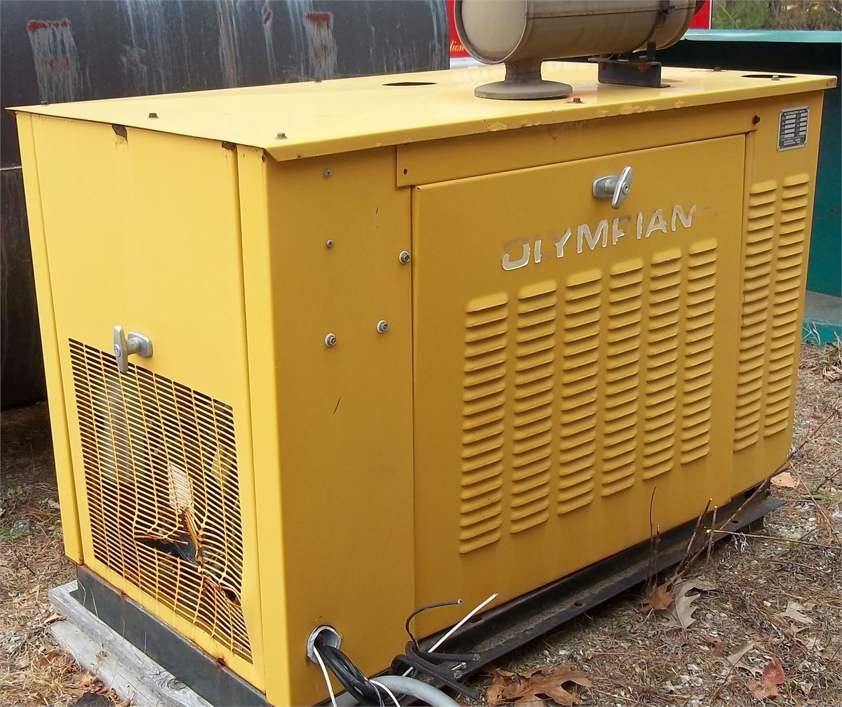 Generac/Olympian 15KW Generator Online Government Auctions of