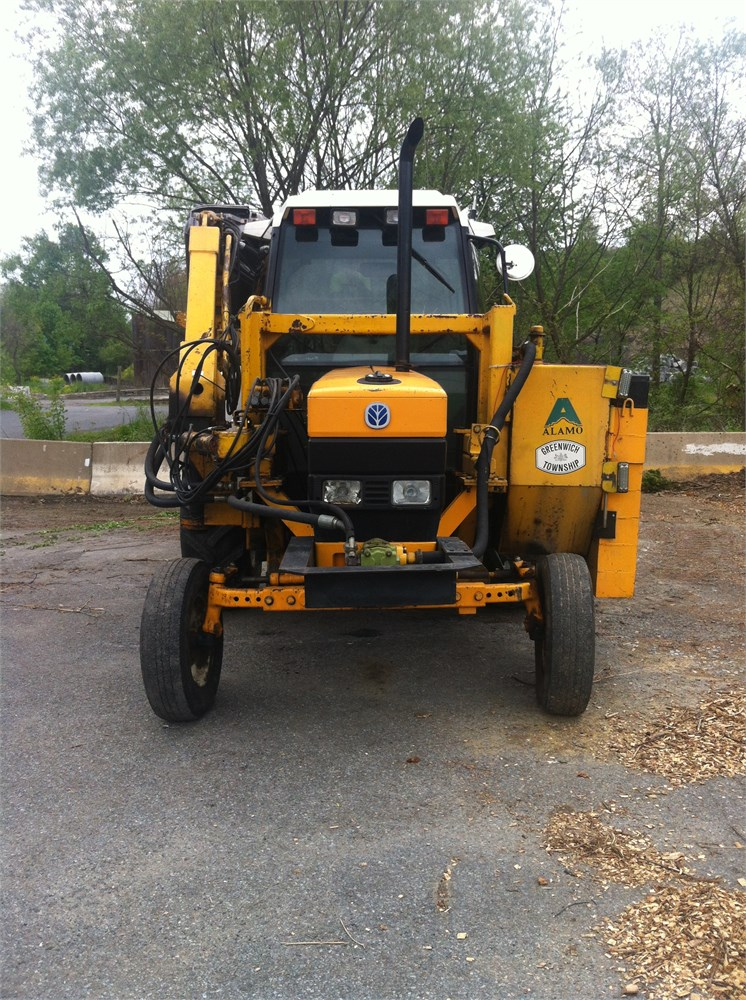 1996 New Holland Tractor : Ford new holland tractor with alamo boom mower for