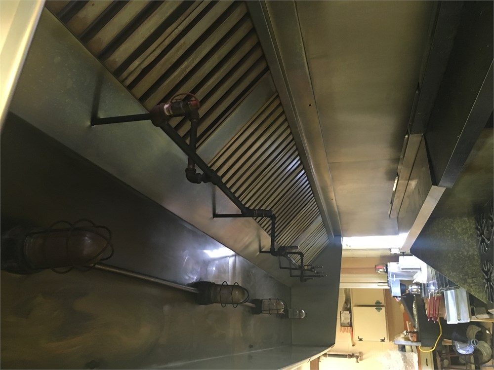 Kitchen Exhaust Hood w Ansul System 15 X4 Coverage for