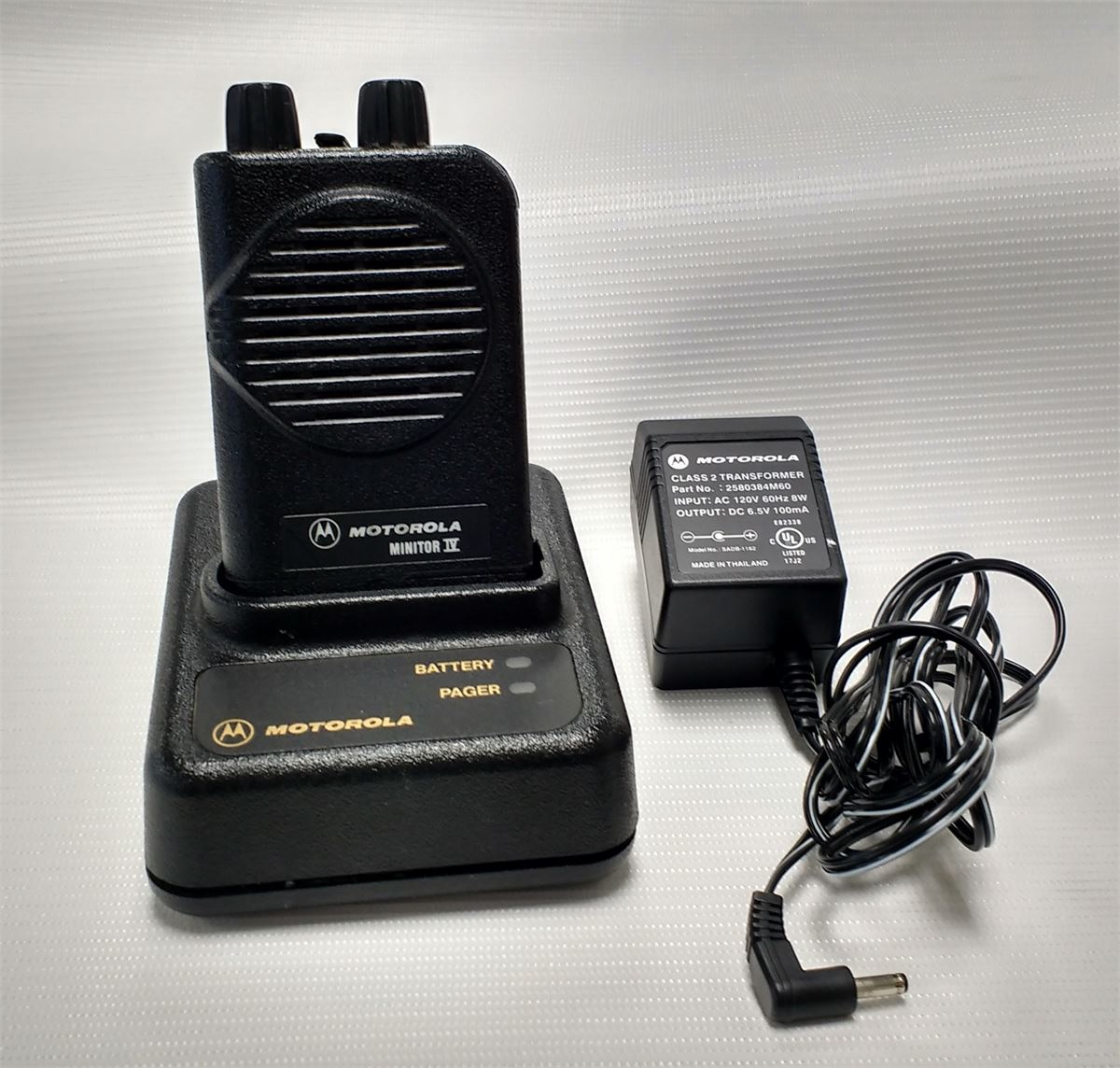 MOTOROLA MINITOR IV EMS PAGER & CHARGER SETS Online Government ...