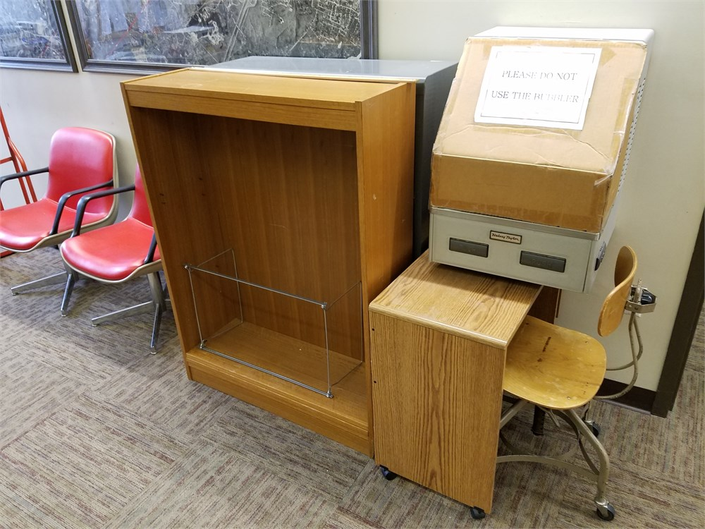 Office Furniture File Cabinets And Chairs For Auction