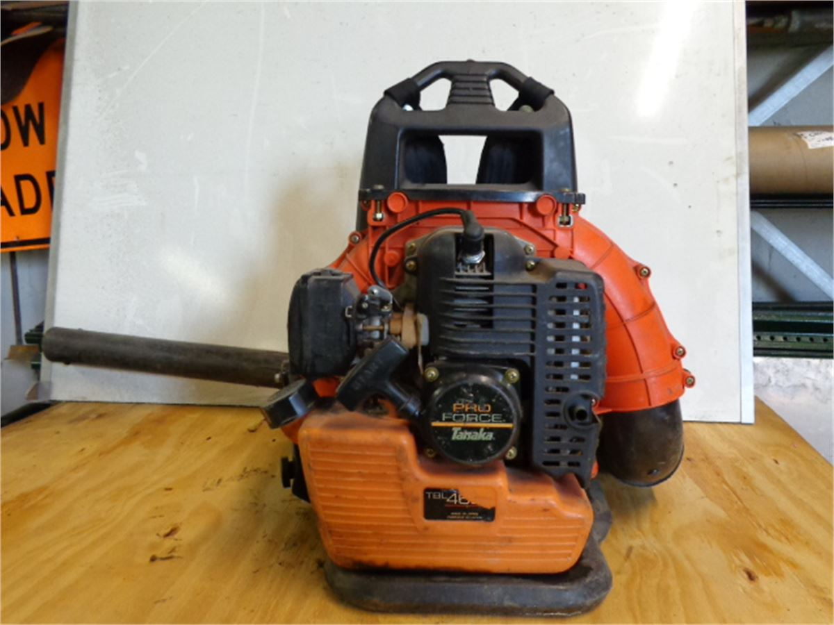 Force One Blower : Tanaka pro force backpack blower for auction municibid
