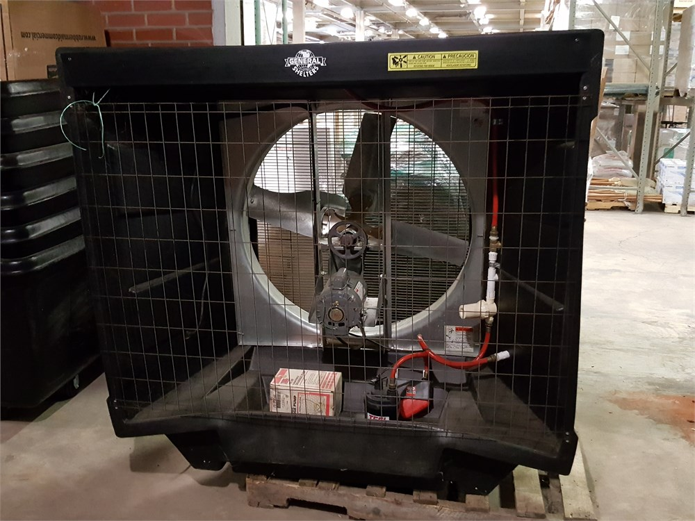 General Equipment Company Fan : General shelters port a cool fan lot f for auction