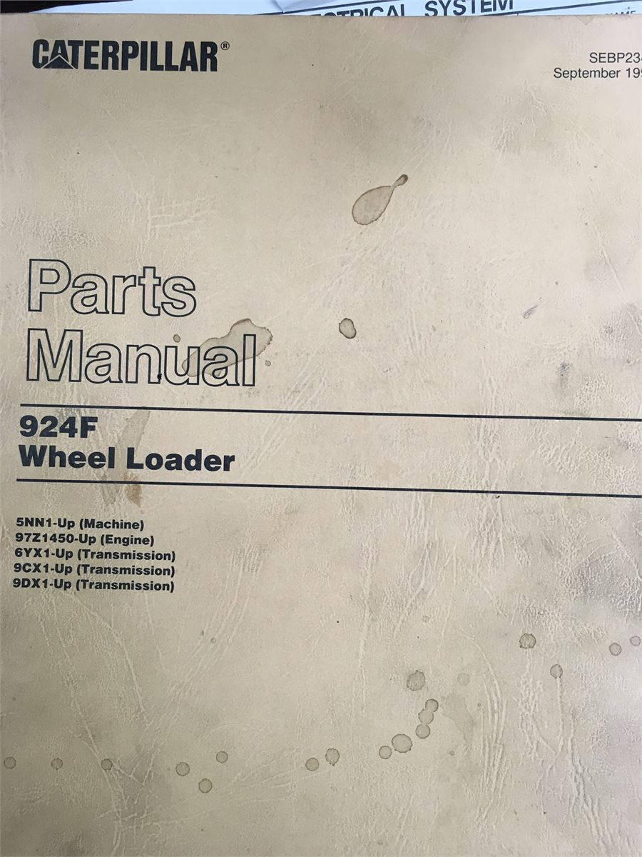 924f wheel loader service manual and parts manual for auction rh municibid com Cat 924G Cat 9 30H