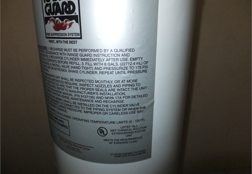 Range Guard Wet Chemical Fire Suppression System Online