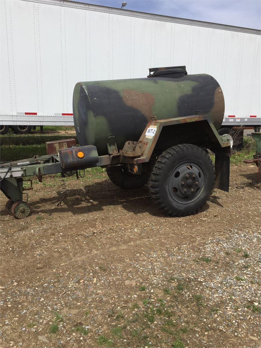 Military 400 Gallon Water Trailer Online Government Auctions of