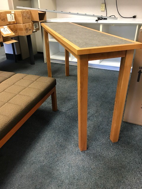 counter height narrow table online government auctions of government surplus municibid. Black Bedroom Furniture Sets. Home Design Ideas