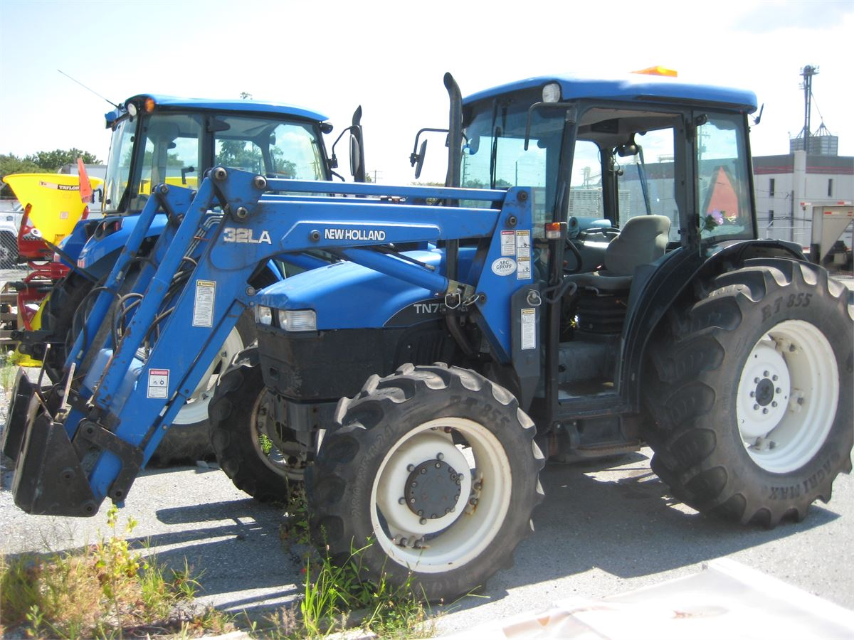 2001 New Holland TN75 Tractor with Front End Loader Online