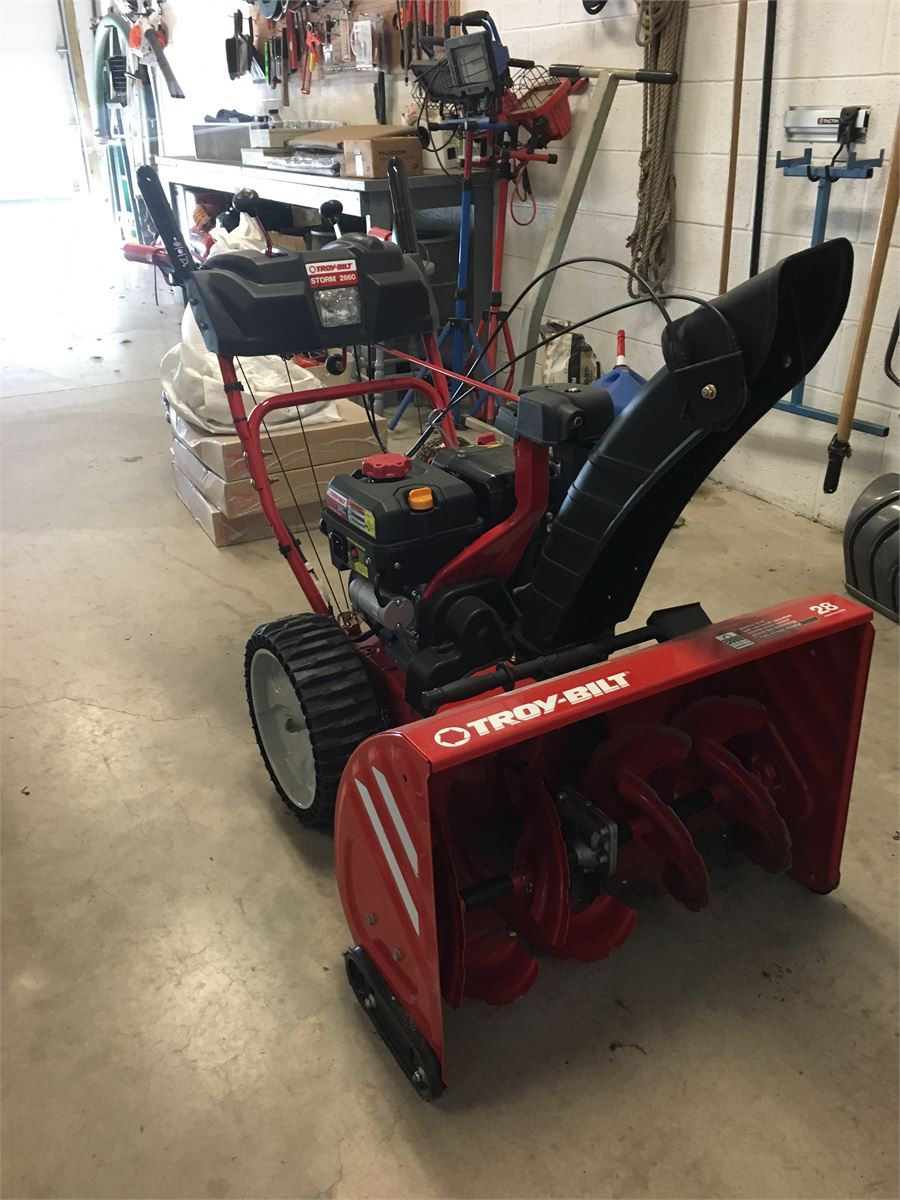 2016 Troy Bilt 2860 Snow Blower Online Government Auctions of