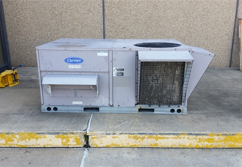 1 Used Carrier Rooftop A C Unit Model 50tm 005 A 601gd