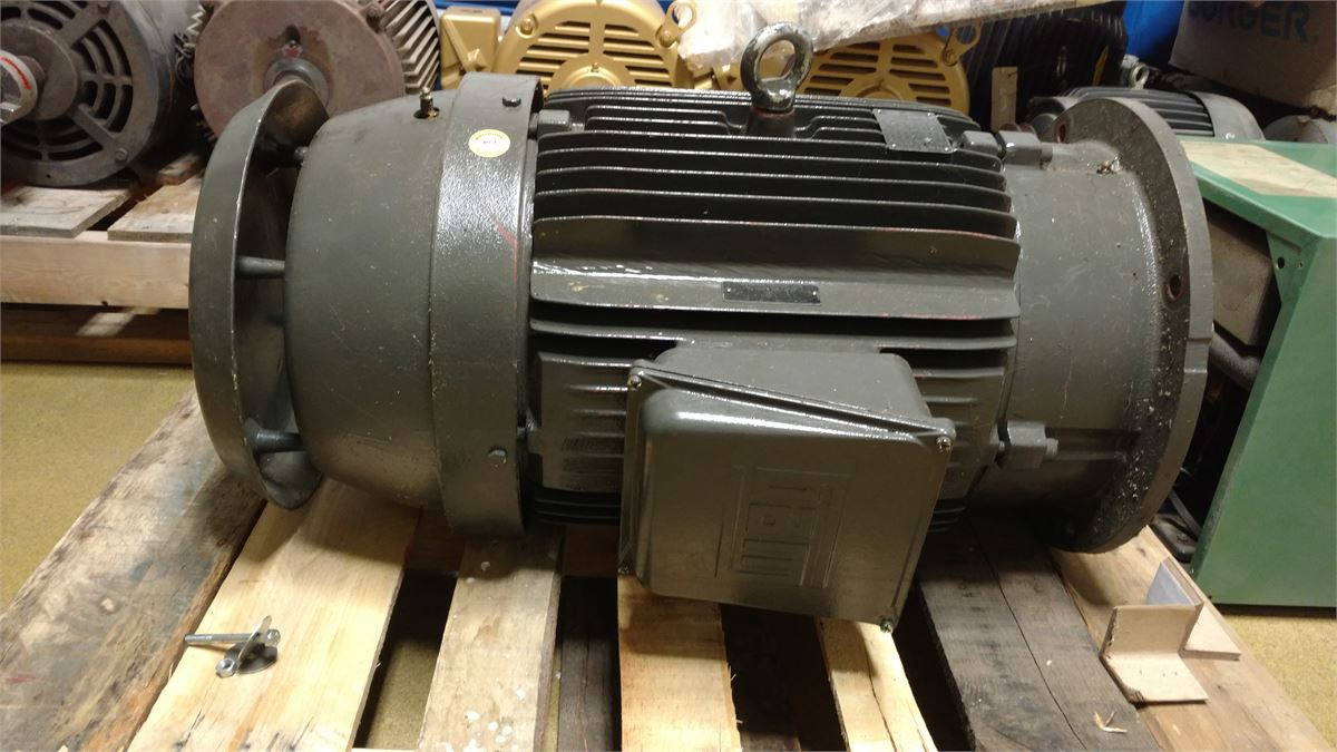 Vertical 50hp motor for auction municibid for Who buys electric motors near me