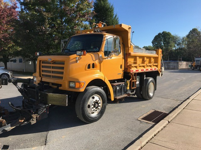 2000 Sterling Dump Truck With Plow And Spreader Online Government Auctions Of Government Surplus