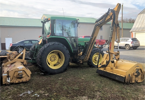 2001 John Deere 6310m Tractor With Tiger Rear Flail And