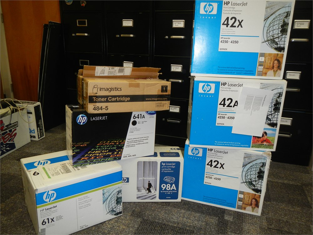 Toner cartridges - various Online Government Auctions of