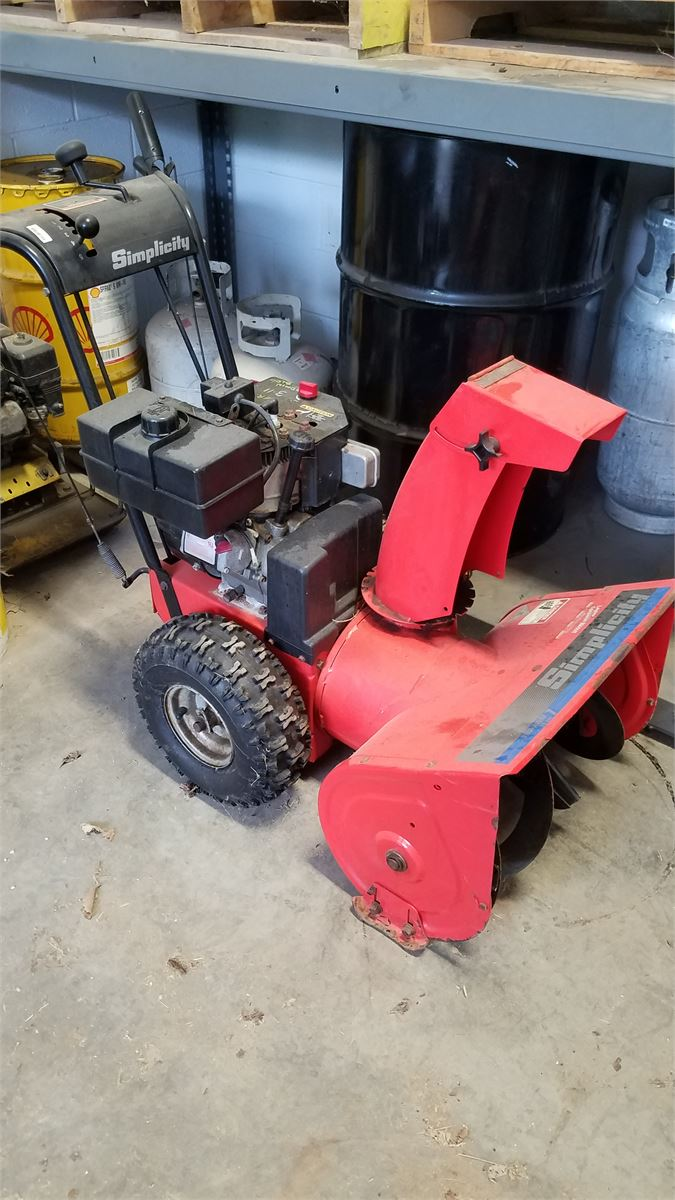 Simplicity Snow Blower Online Government Auctions of