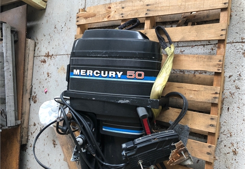 Mercury 50hp outboard motor with controller online for Hp motors mansfield pa