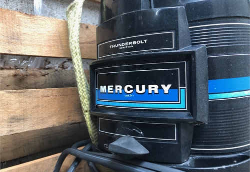 Mercury 50HP outboard motor with controller