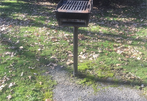 OUTDOOR CAST IRON CHARCOAL GRILL