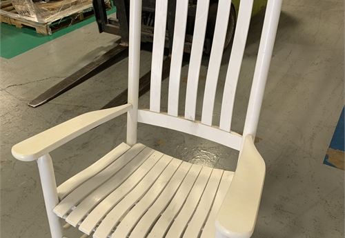 4 Rocking Chairs, White, Wood (IN BOX) / LOT-42-ROCKCHAIR-4