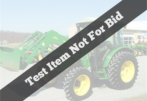 Test listing not for bid