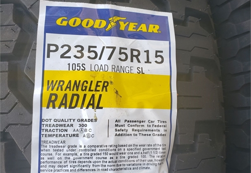 GOODYEAR (NEW) TRUCK TIRES /LOT 38-25-TRUCKTIRES2