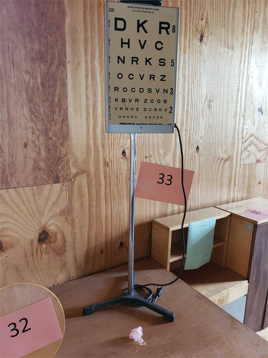 1 Eye Chart Online Government Auctions Of Government Surplus Municibid