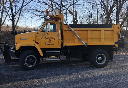 1987 GMC Brigadier Dump Truck with Spreader