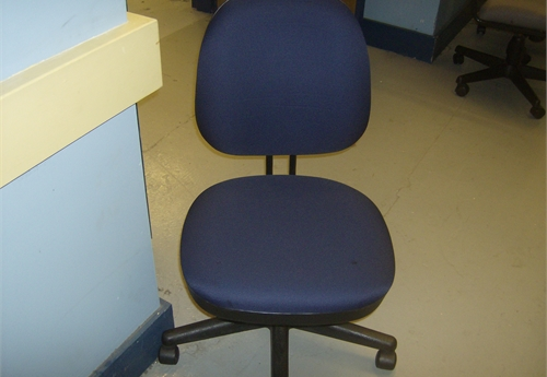 10 - Rolling Blue Padded Chairs