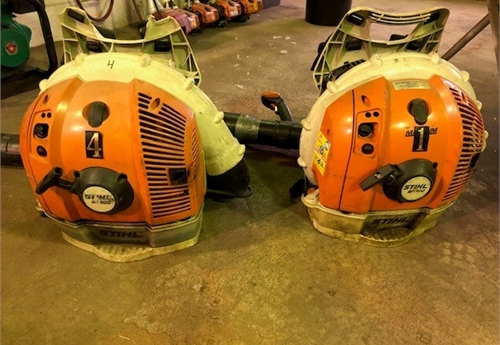 1 LOT OF (2) STIHL BACKPACK BLOWERS