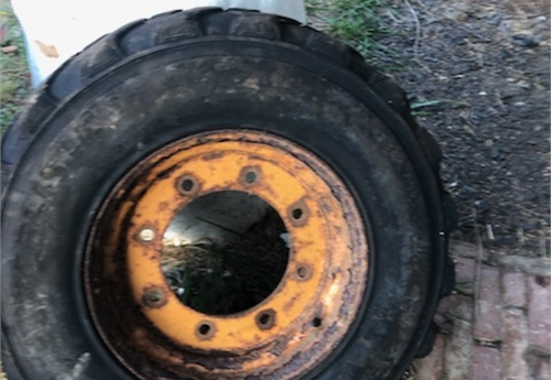 2) Used 12 X 16.5 Case Backhoe Tires & Wheels