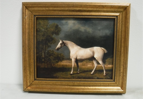Painting of Gray horse with frame – Framed Art work