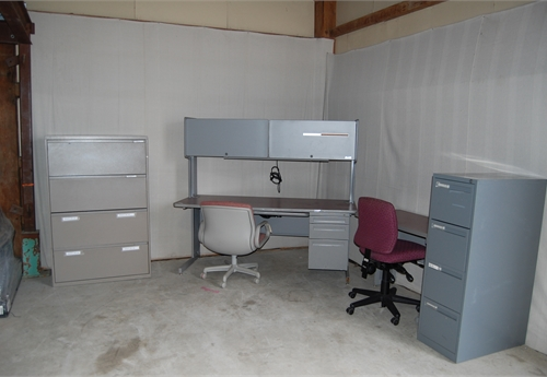Office Furniture Set - chairs, desks and drawers.