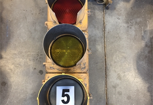 Metal Traffic Light #5
