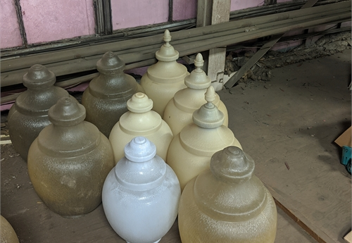 Lot of used light pole globes