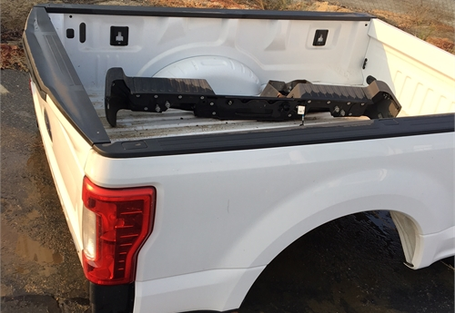 2017 and up F250 truck bed with tailgate and bumper