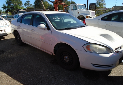 2007 Chevy Impala, does not run, no key, wrecked