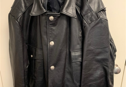 Waist Length Leather Coat