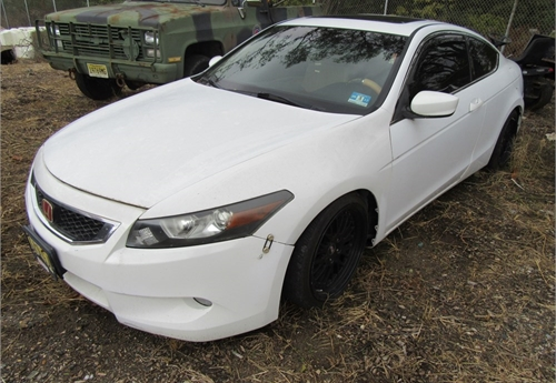 2008 Honda Accord, 2Dr White