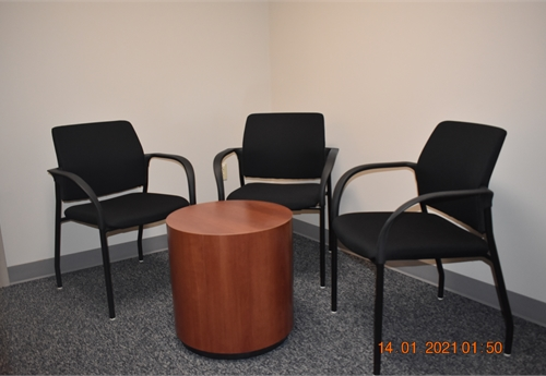 JOHNSTOWN - HON Waiting Room Furniture.  (3) Chairs (1) Table